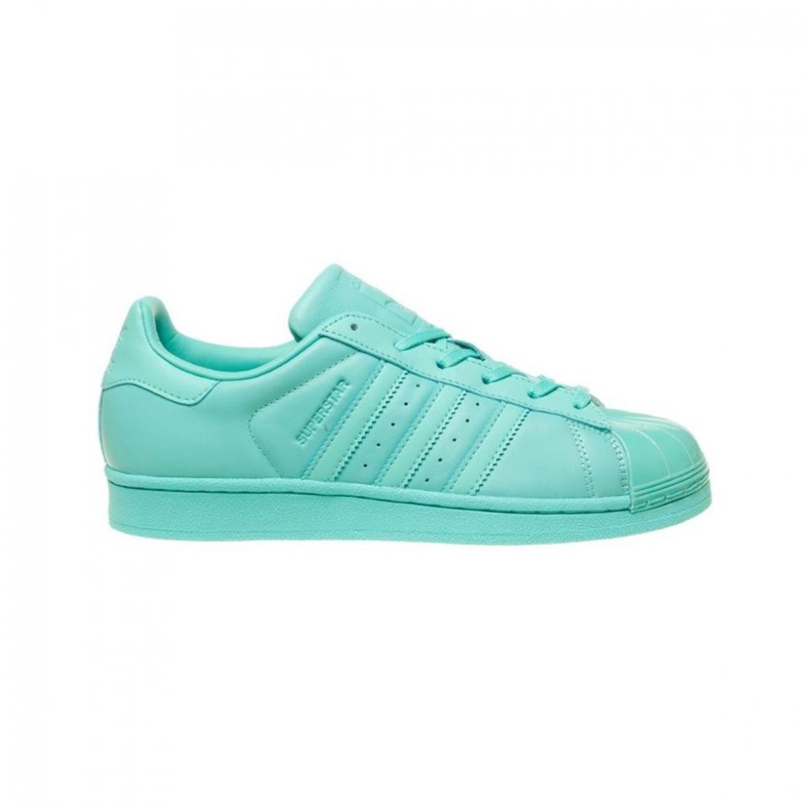 Baskets mode Adidas Originals | Superstar Glossy Toe Turquoise ...